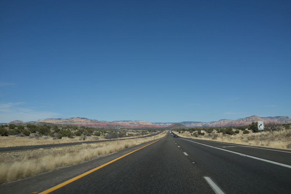 Driving toward Sedona
