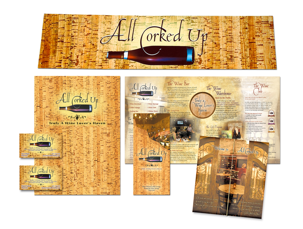 All Corked Up Media Kit - Summit Creative Awards - Silver
