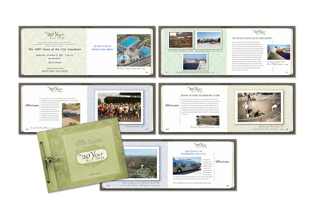 State of the City storybook invitation - Gold Addy award winner