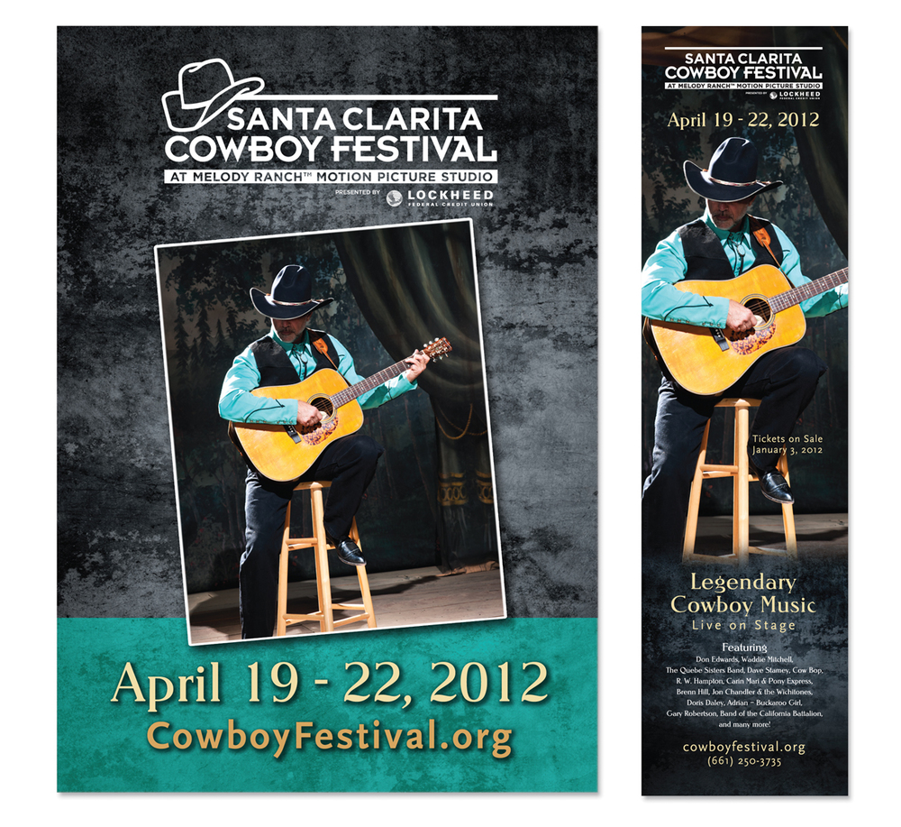 Cowboy Poetry Poster and Advertising Campaign - CAPIO Special Events Award Winner