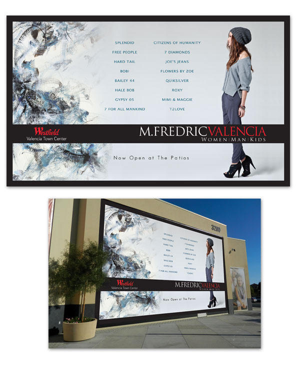 Grand Opening Westfield Mall Graphics for M.Fredric