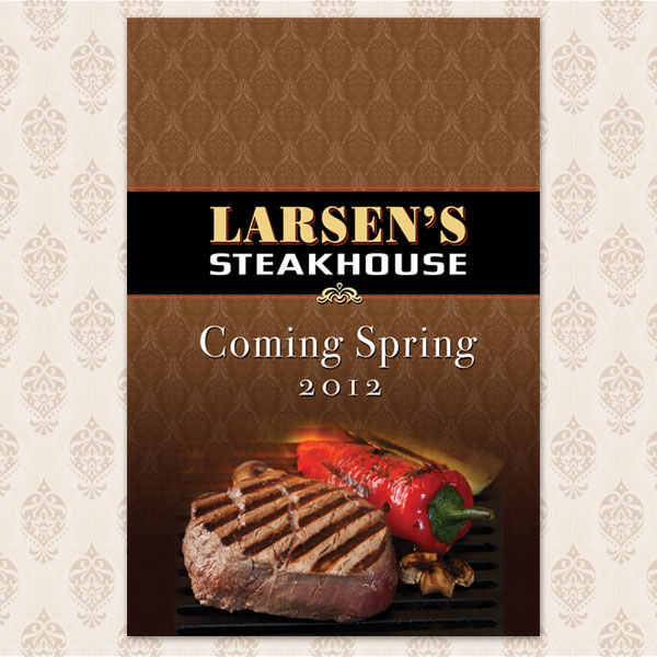 Grand Opening Westfield Mall Graphics Larsen's Steakhouse