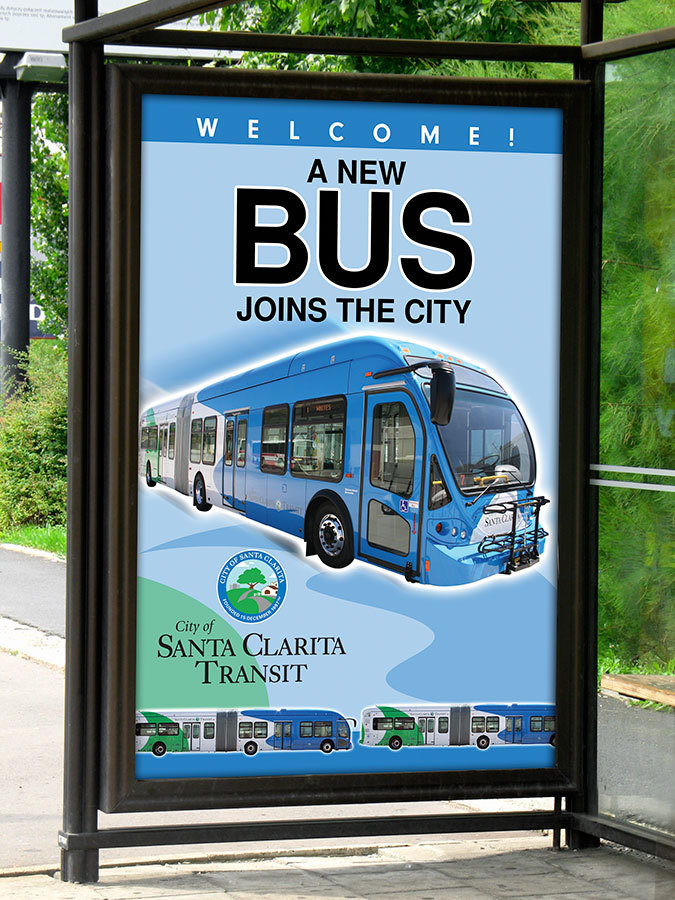 Bus Shelter Posters for New Branding Program
