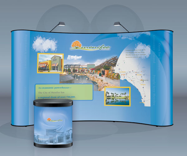 Popup Wall Graphics and Front Table Booth