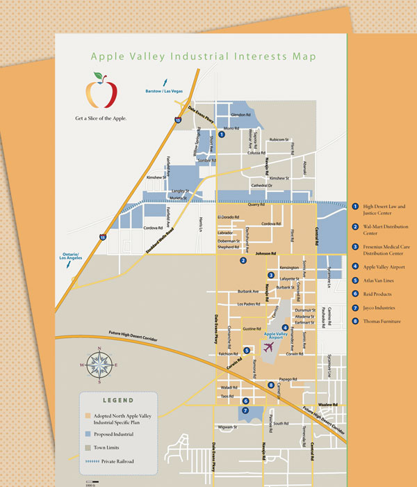 Industrial, Commercial, Overview, and Vicinity Map Inserts
