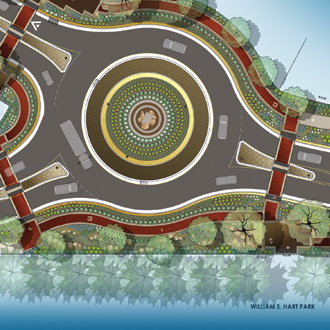 Newhall Roundabout sqaure 2016.jpg