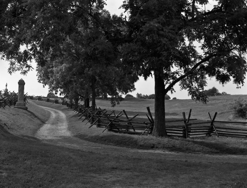 "The ""bloody lane"".  Antietam Battlefield.  Sharpsburg, Maryland."