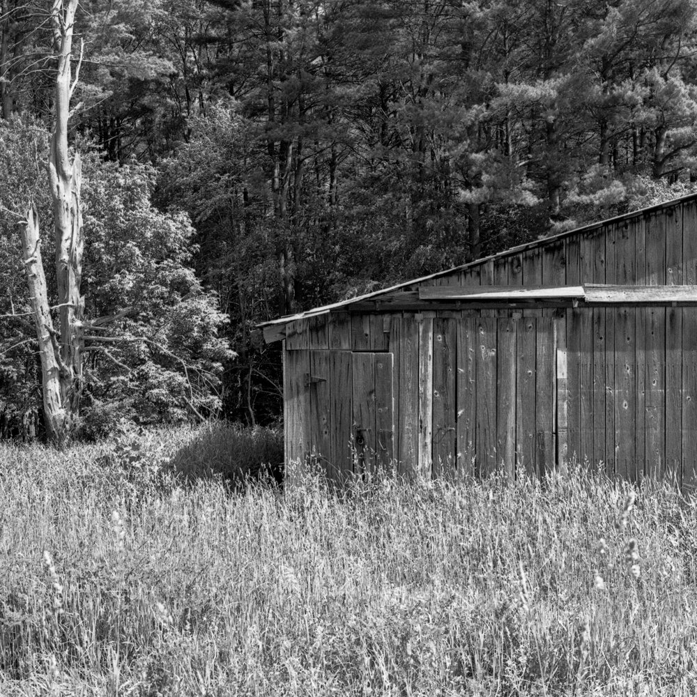 An old barn used for tractor and harvester storage in Trout Run, Lycoming County Pennsylvania.