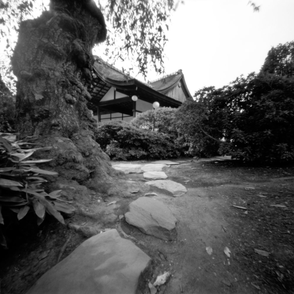 Shofuso Japanese House and Garden.  Philadelphia, Pennsylvania.  Zero image 2000 6x6.