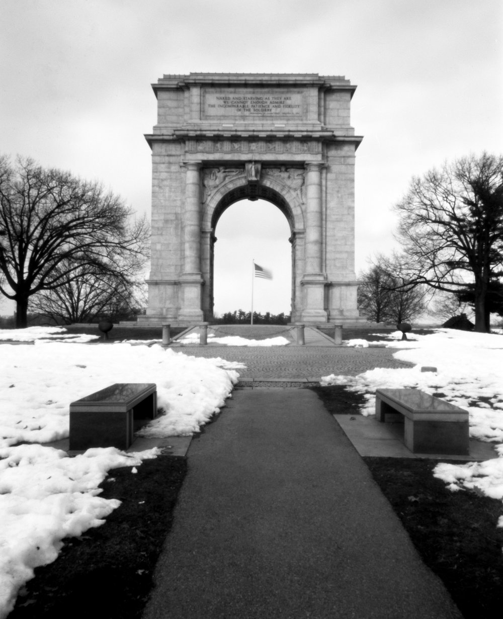 Valley Forge Memorial Arch.  Valley Forge, Pennsylvania.  Rob Kauzlarich built 90mm 4x5.