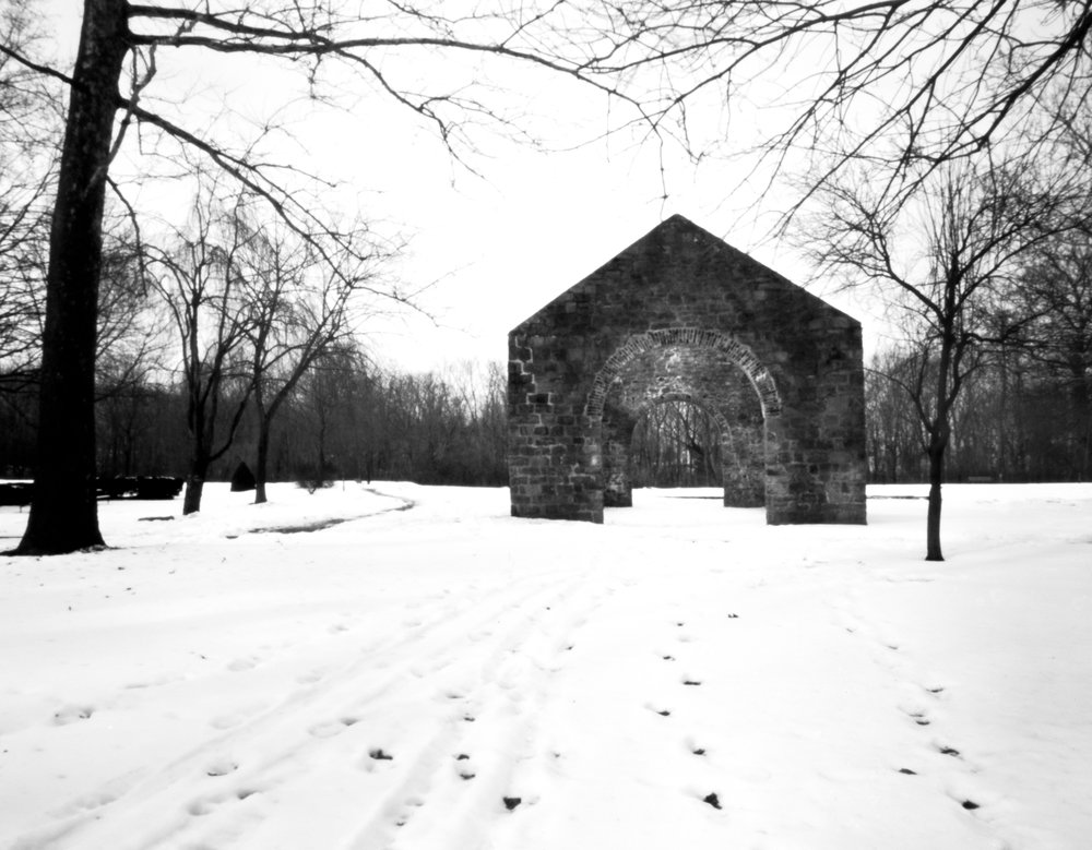 Lockridge Furnace ruins.  Alburtis, Pennsylvania.  Rob Kauzlarich built 90mm 4x5.