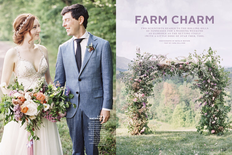 Larkin Eric Blackberry Farm Wedding featured in Martha Stewart