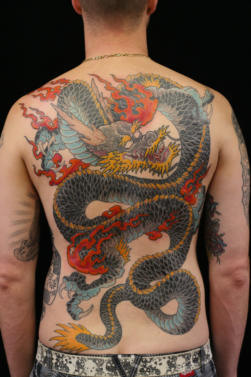 Dragon Tattoo Backpiece Rhys Gordon Sydney Tattoo Studios Dragon Back piece.JPG