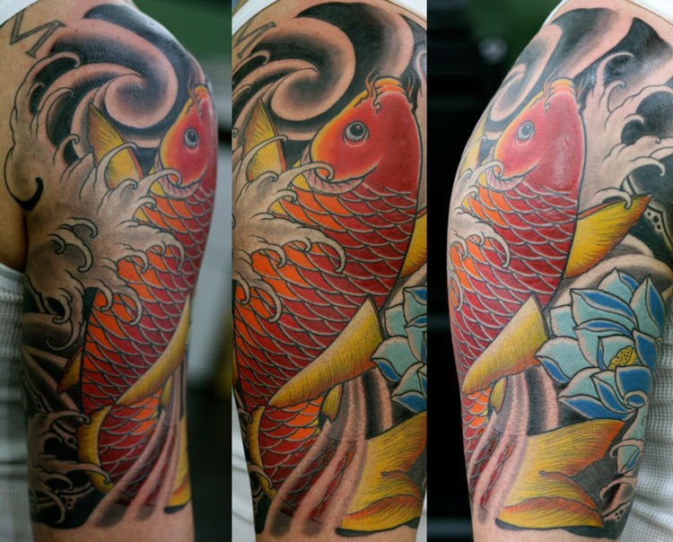 Red Koi tattoo Japanese tattoos Sydney Rhys Gordon.jpg