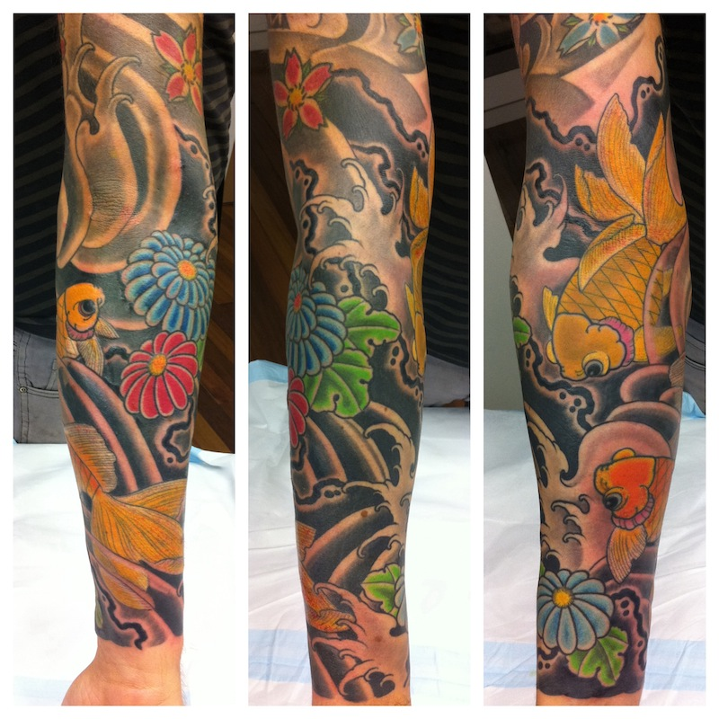 Gold Fish Tattoo Japanese Tattoo Sydney.JPG