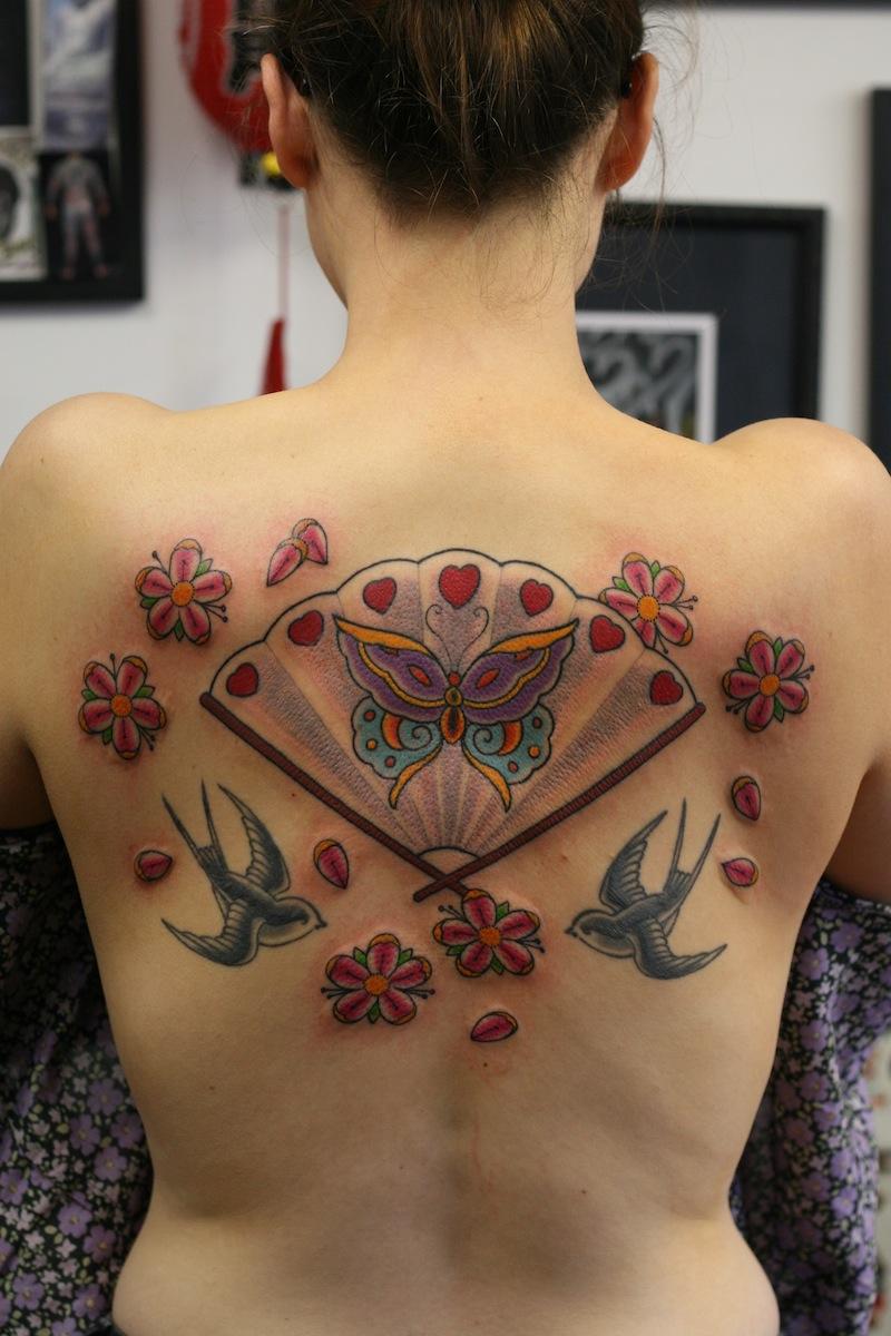 Japanese fan Tattoo Rhys Gordon Tattoo.JPG