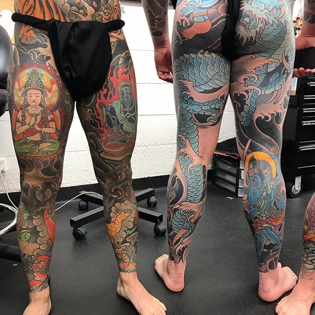 @e_r_w_i_n_araniego and @markjbland two great guys who have embraced tattooing from me over the years, and become great friends. @_littletokyo_ #tattoo #sydney #sydneytattoo #sydneytattooartist #australia #sydneytattoos #japanesetattoos #japanesetattooing #bondi #surryhillstattoo#bonditattoo #horimono #wabori #irezumi #tradition #japanesecollective #ptaa #tattoodo #tattooartistmagazine #bestirezumi #traditionaljapanese #littletokyo #surrywood