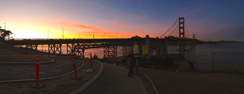 Saying farewell. What a sight. (And three cheers for the iPhone 5's panoramic photo feature.)