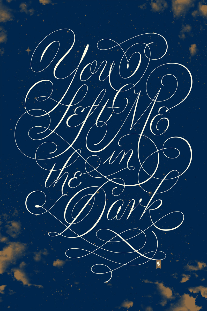 Gorgeous lettering for Florence and The Machine