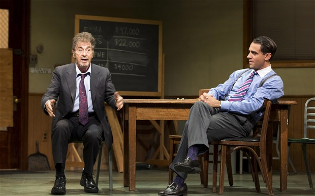 Pacino and Cannavale in Glengarry Glen Ross