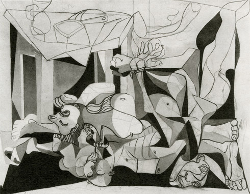 Le Charnier, or 'The Slaughter' as Picasso called it. Terrifying and heart-breaking.