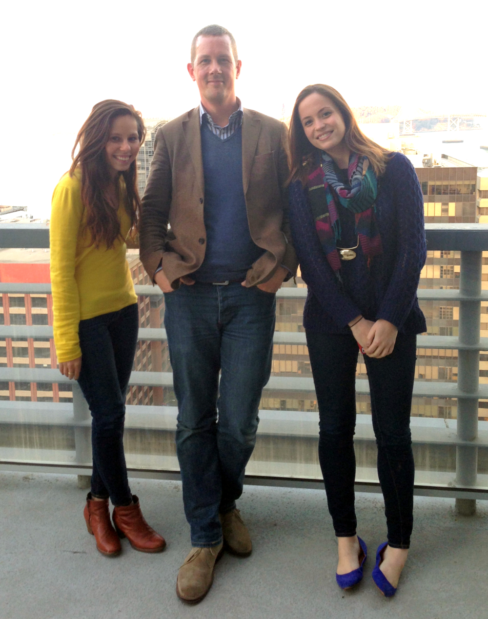 L-R: Vero, Yours Truly (never happy in front of a camera, as you can tell), and Nell.