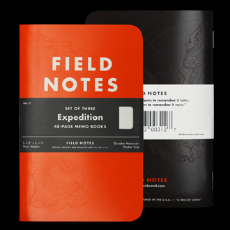 The latest Field Notes notebook (at time of writing)
