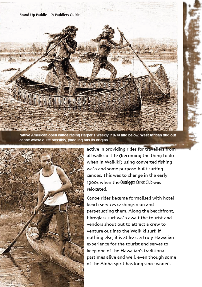 Extract from Stand Up Paddle - A Paddlers Guide Book.