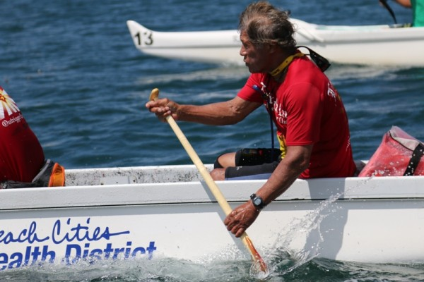 Al Ching paddles with Lanakila Outrigger Canoe Club Redondo Beach California (photo Kevin Cody) and runs and manages  Mudbrook Racing Paddles . He's one the sports living icons and legends, father of that other Californian paddling icon and Champion, Danny Ching.