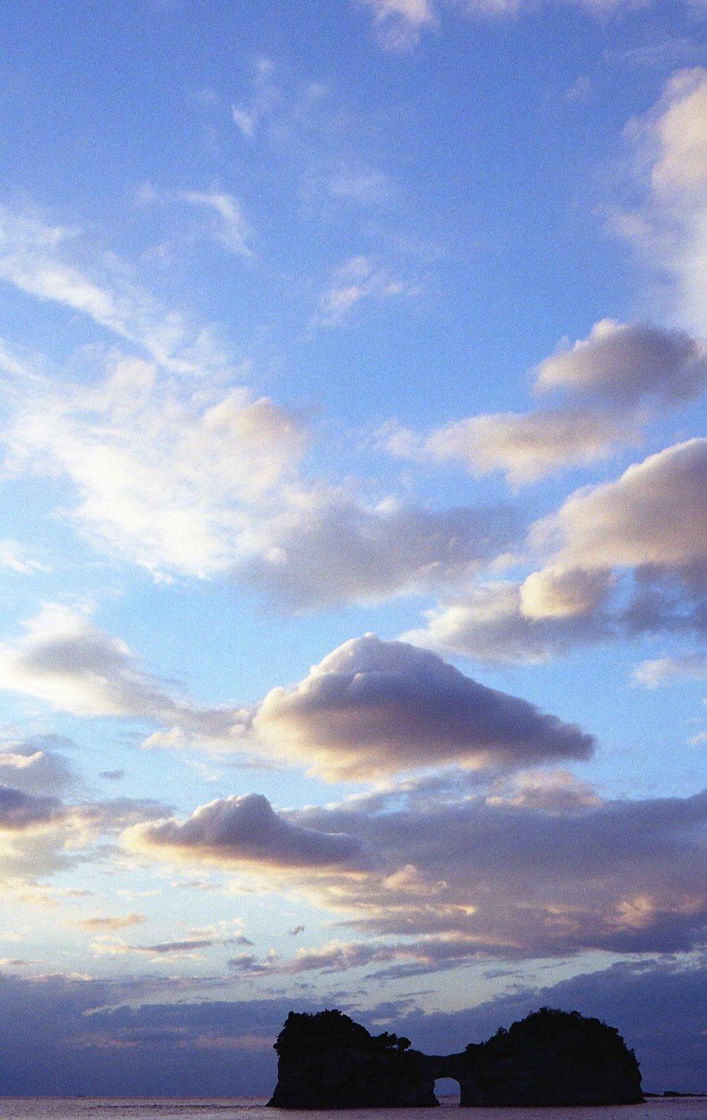 「円月島」二〇一六年十二月五日撮影