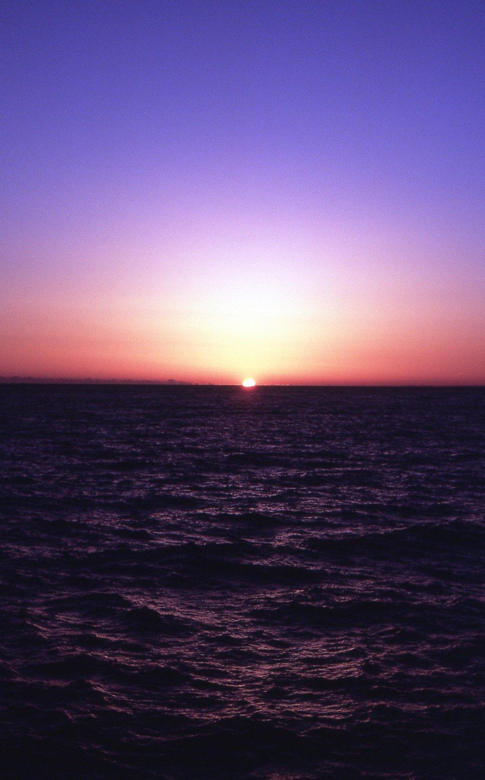 「駿河灣の夕景」