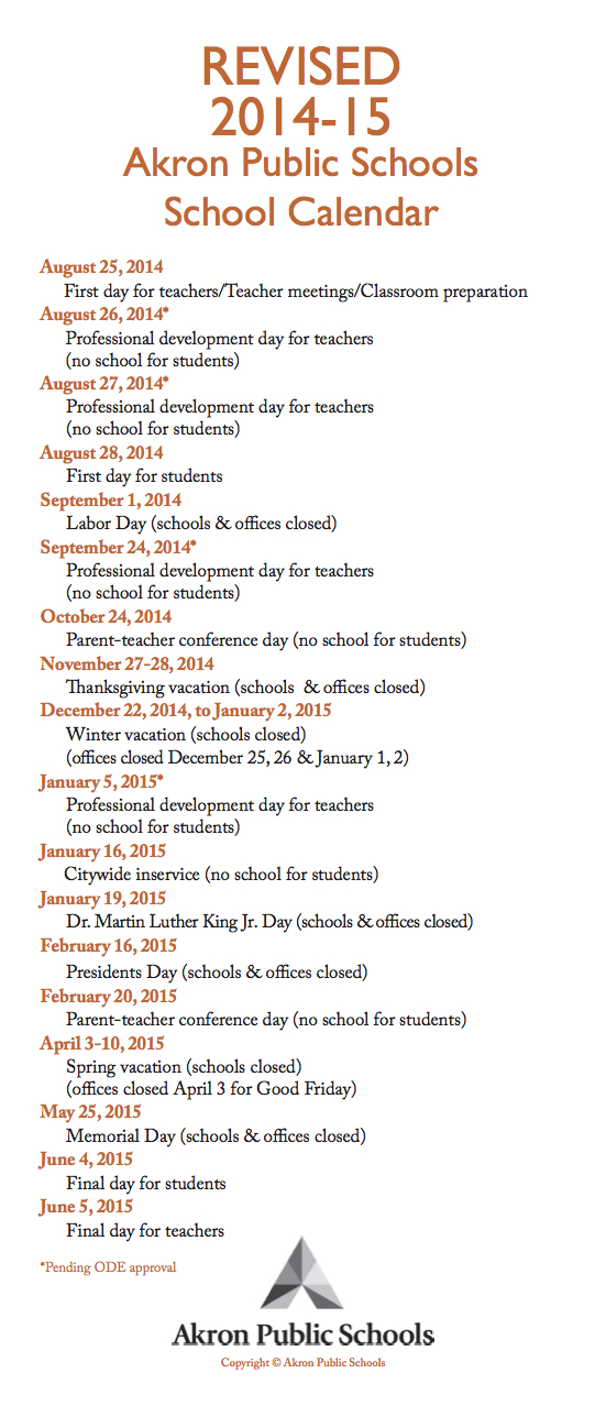 2014 2015 Aps Calendar Litchfield Middle School