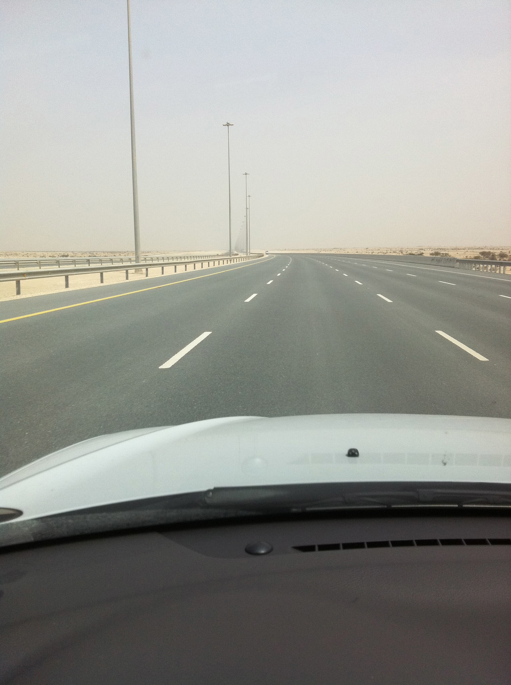 Road leading from Dukhan to Doha.