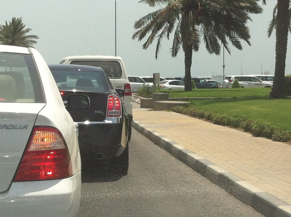 Everyday traffic in Doha ...