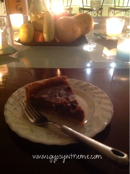 Homemade pumpkin pie (even the crust)!
