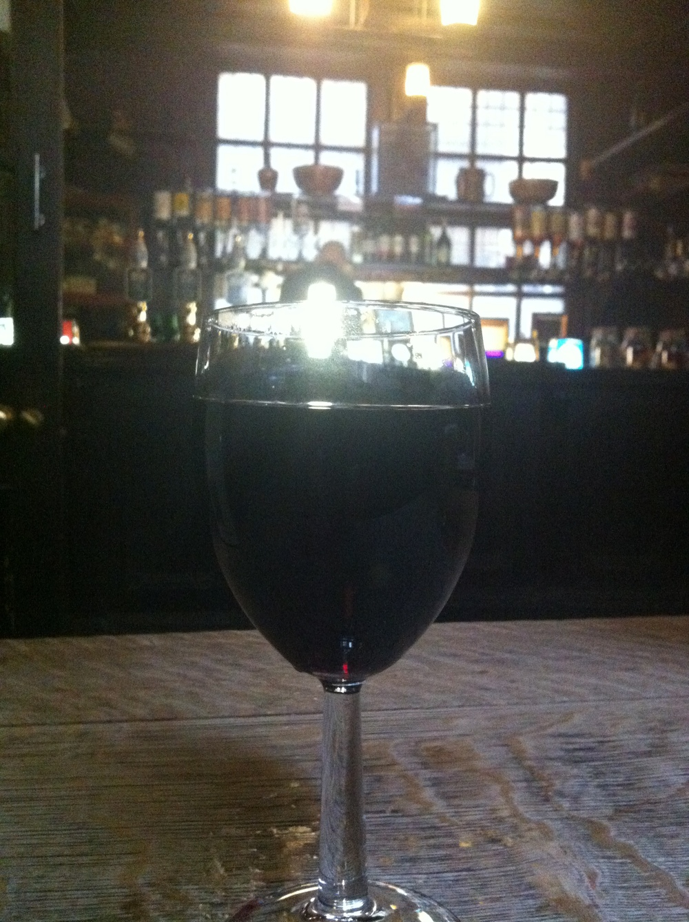 "Does anyone else feel like singing ""Hallelluiah!"" when they look at this pic?  A nice glass of red really warms the insides on a damp and cold spring day.  (@ Cheshire Cheese, London, England)"