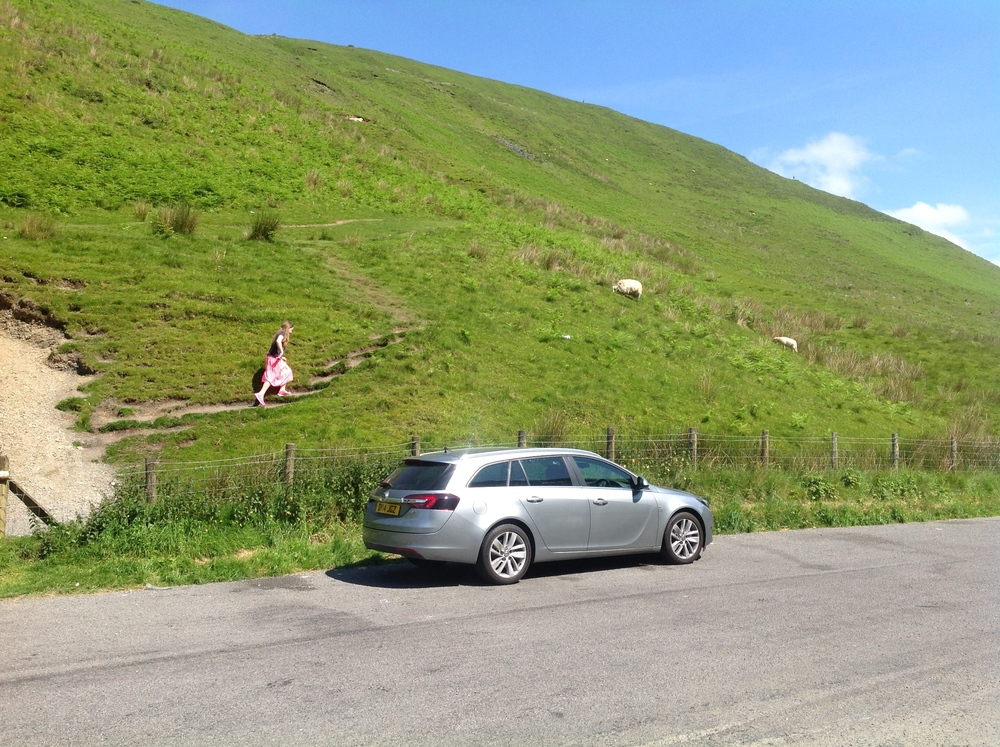 ¨Pitstop ... Kiddo on her way up the hill to mingle with the sheep...