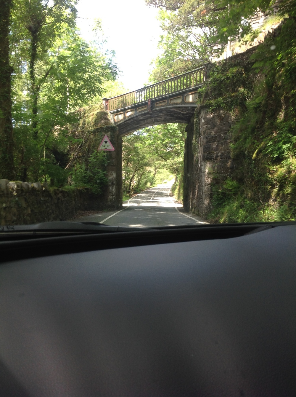 Narrow roads in Wales ...