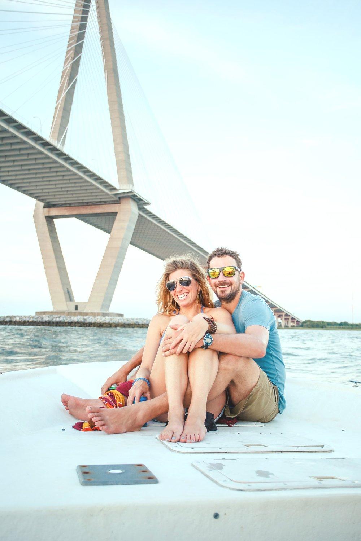 kailee-dimeglio-charleston-engagement-boat-bridge-ravenel