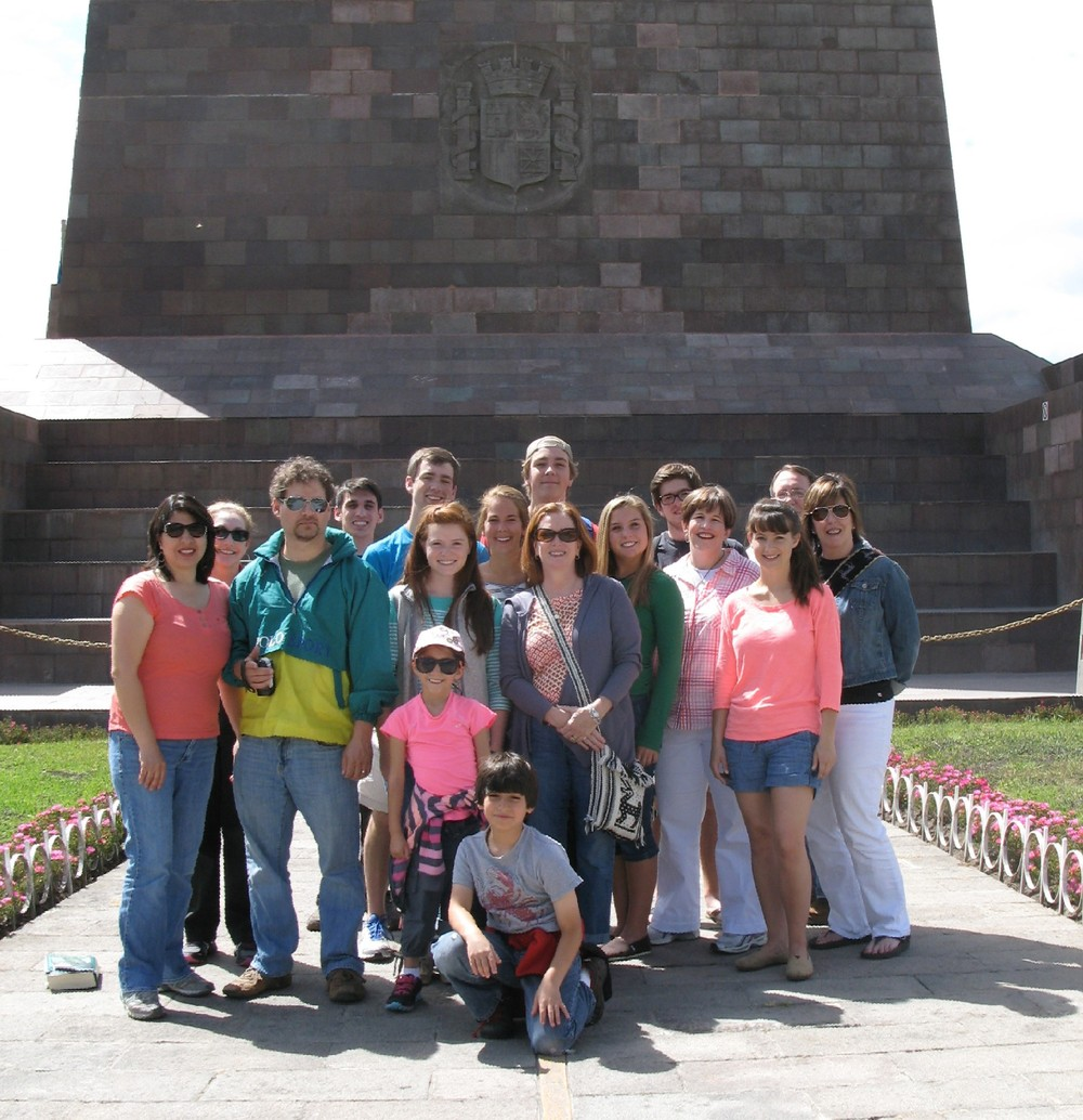 Our team at the Equator Monument