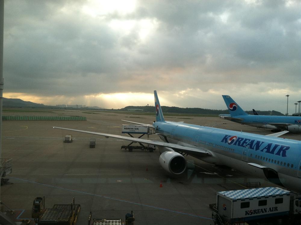 5:00AM Sunrise at Seoul Airport, South Korea