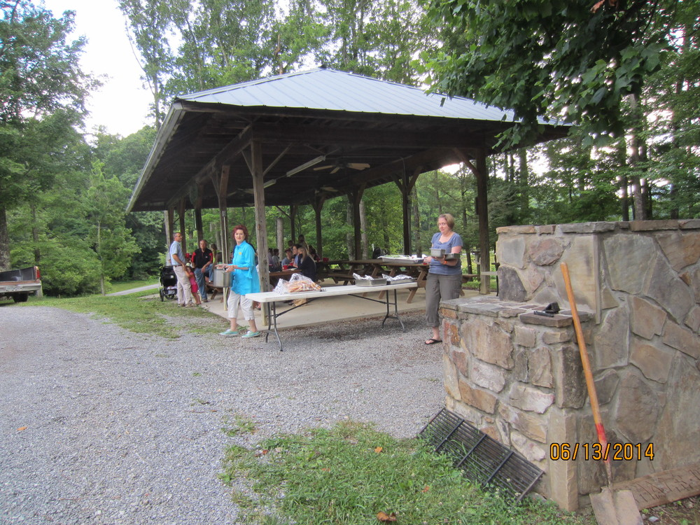 JFBC workers grill hot dogs and hamburgers for the WVR staff and kids.  A great dinner was had by all!