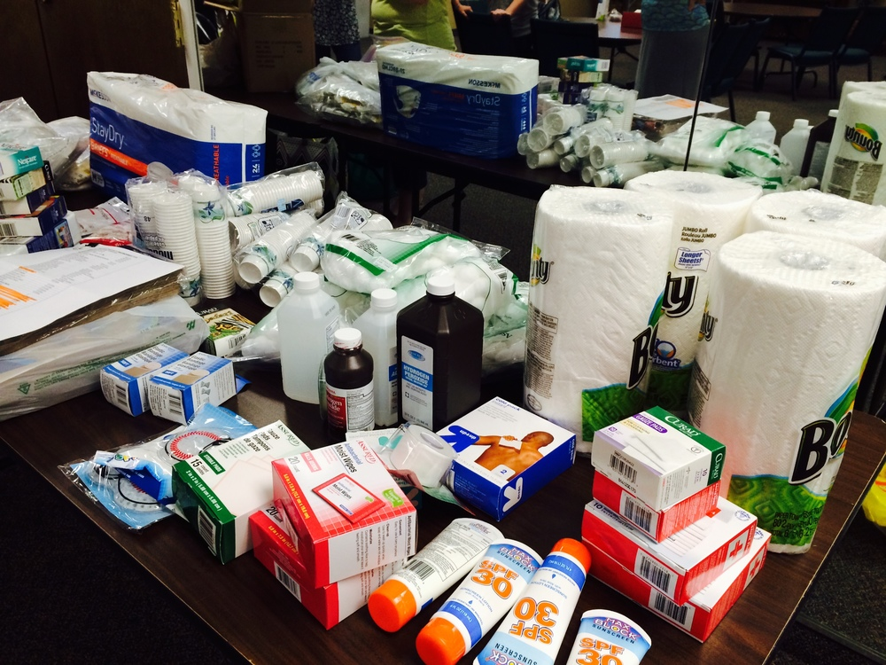 Just some of the medical supplies we're taking to Ecuador.