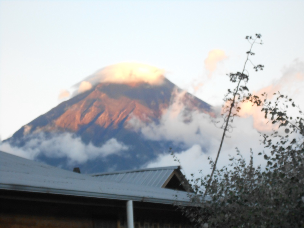 The volcano view from our camp... don't worry it hasn't  erupted since February