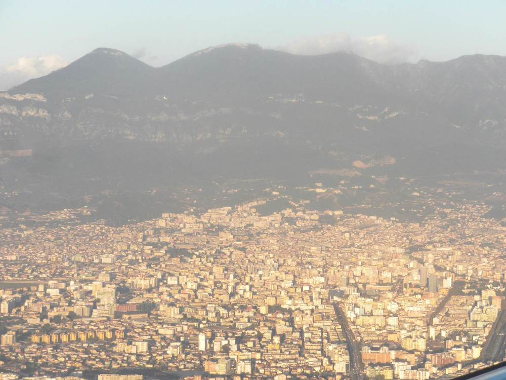 View of Tirana as we were getting ready to land on Saturday