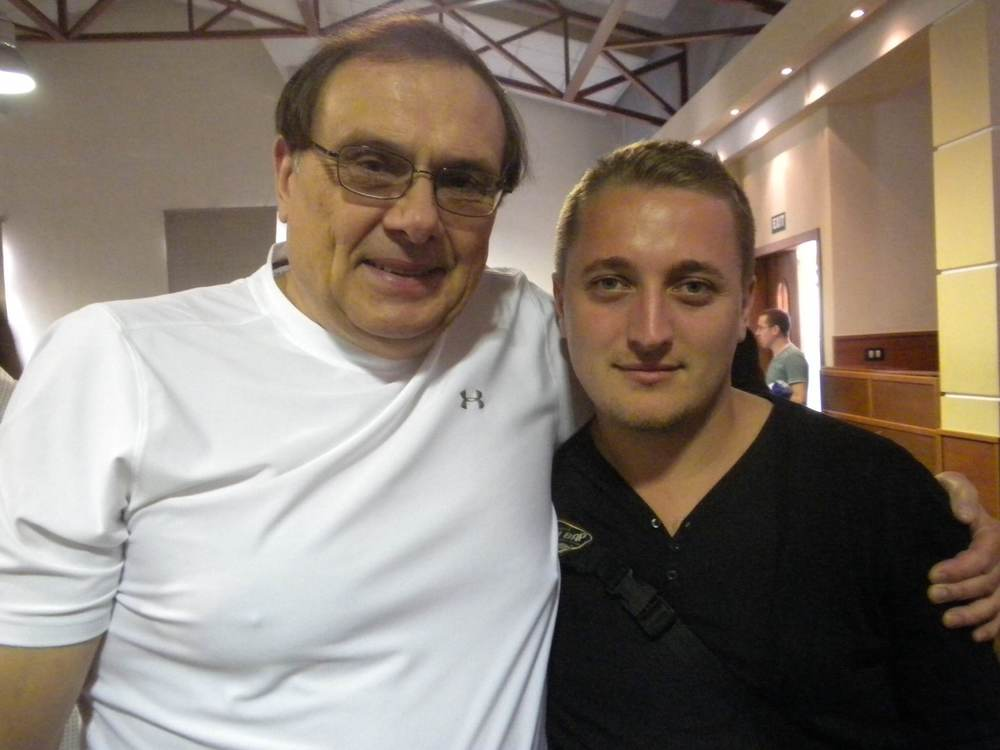 Bruce with his friend, Blerim, who accepted Christ on a previous fall trip to Albania