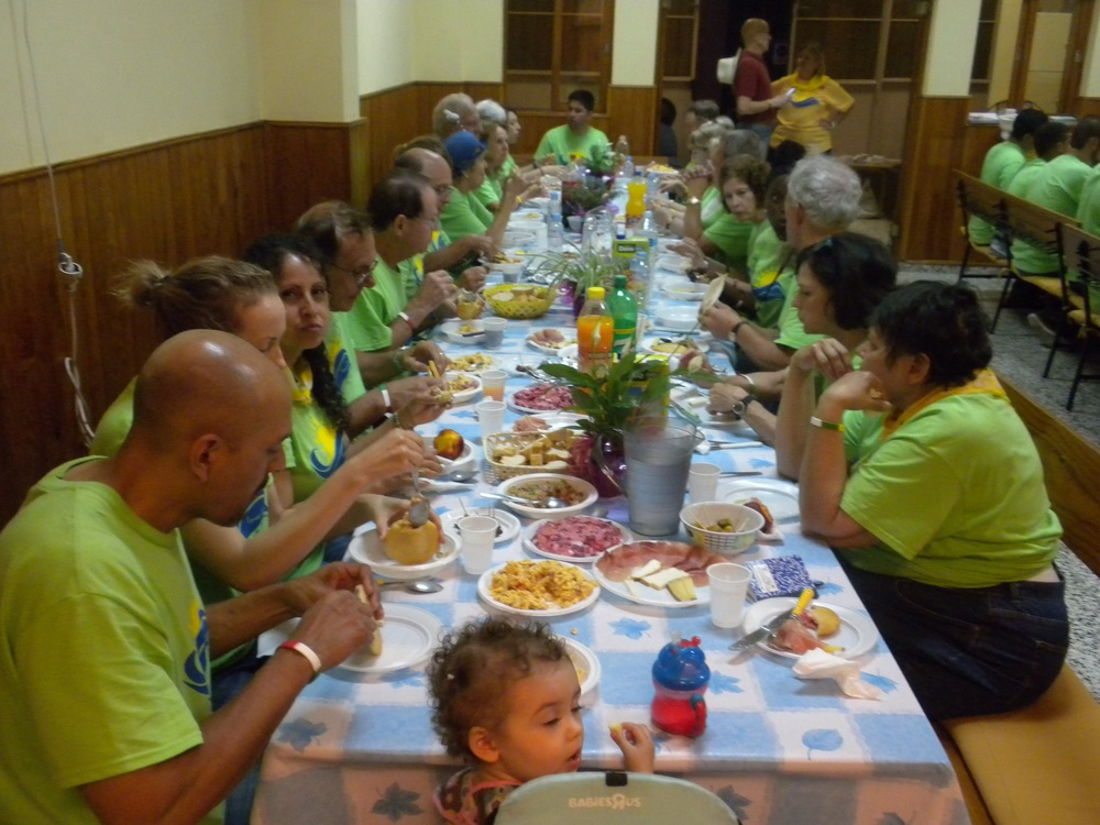 Having our typical Spanish meal on our last night in Tenerife...at 9:30pm...a very common time for our evening meals!