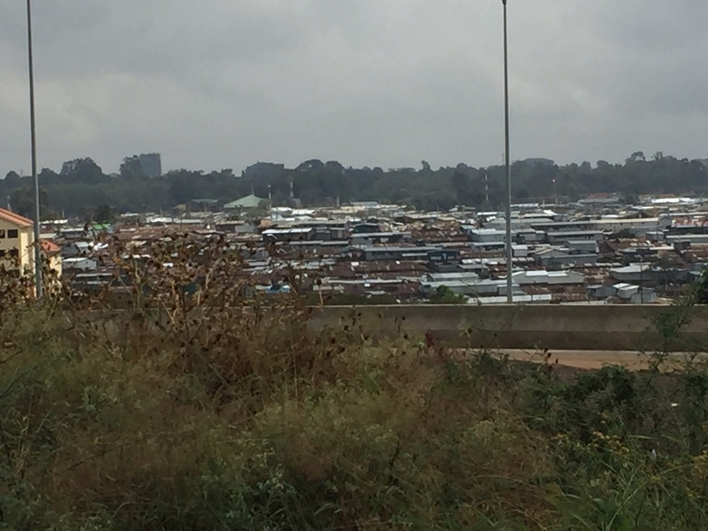 Kibera Slums - where 1 million people live in a 1 square mile area