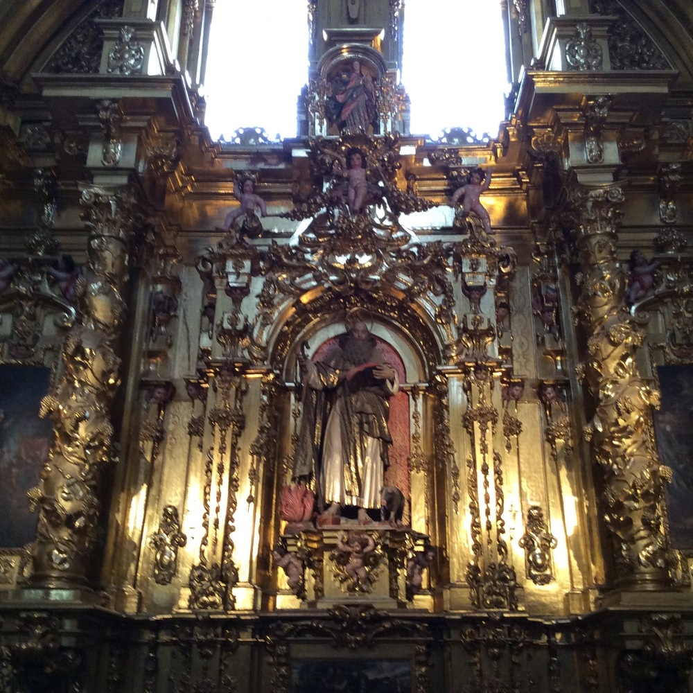 One of the many altars inside the Cathedral.