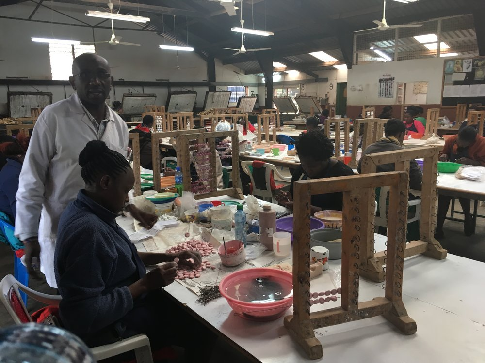 Painting Station at Kazuri Beads